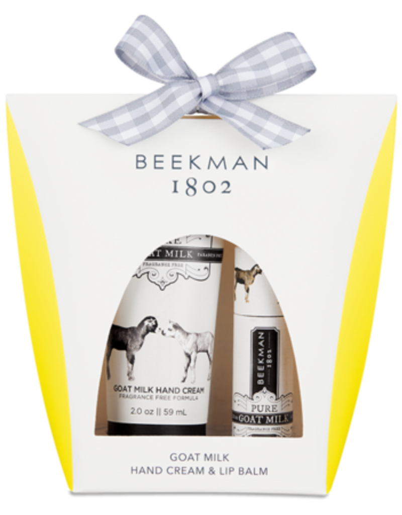 Beekman Pure Goats Milk 2oz Hand Cream & Lip Balm Set