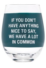 About Face Designs About Face A Lot in Common Wine Glass