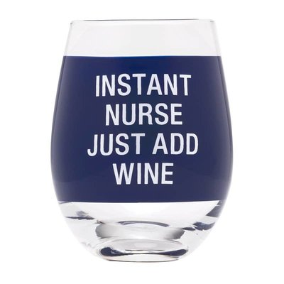 About Face Designs About Face Instant Nurse Wine Glass