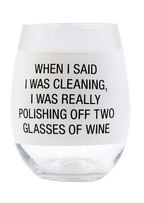 About Face Designs:  Polishing Off Wine Glass