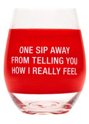 About Face Designs: One Sip Away Wine Glass