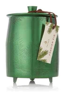 Thymes Thymes Frasier Fir Heritage Large Green Metal Tin Candle