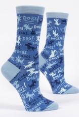 Blue Q Blue Q Dogs! Crew Socks