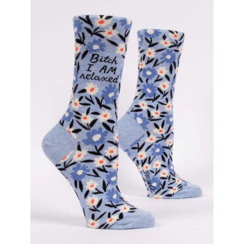 Blue Q Blue Q I Am Relaxed Women's Crew Socks