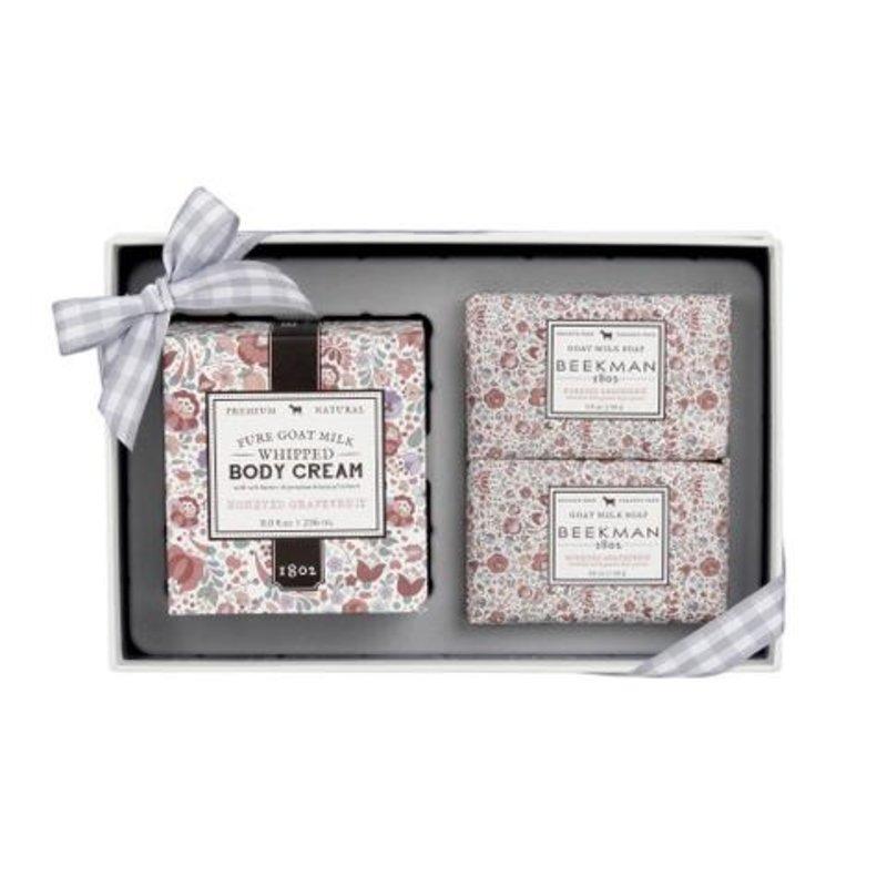 Beekman 1802 Honeyed Grapefruit Soap & Whipped Body Cream Sampler