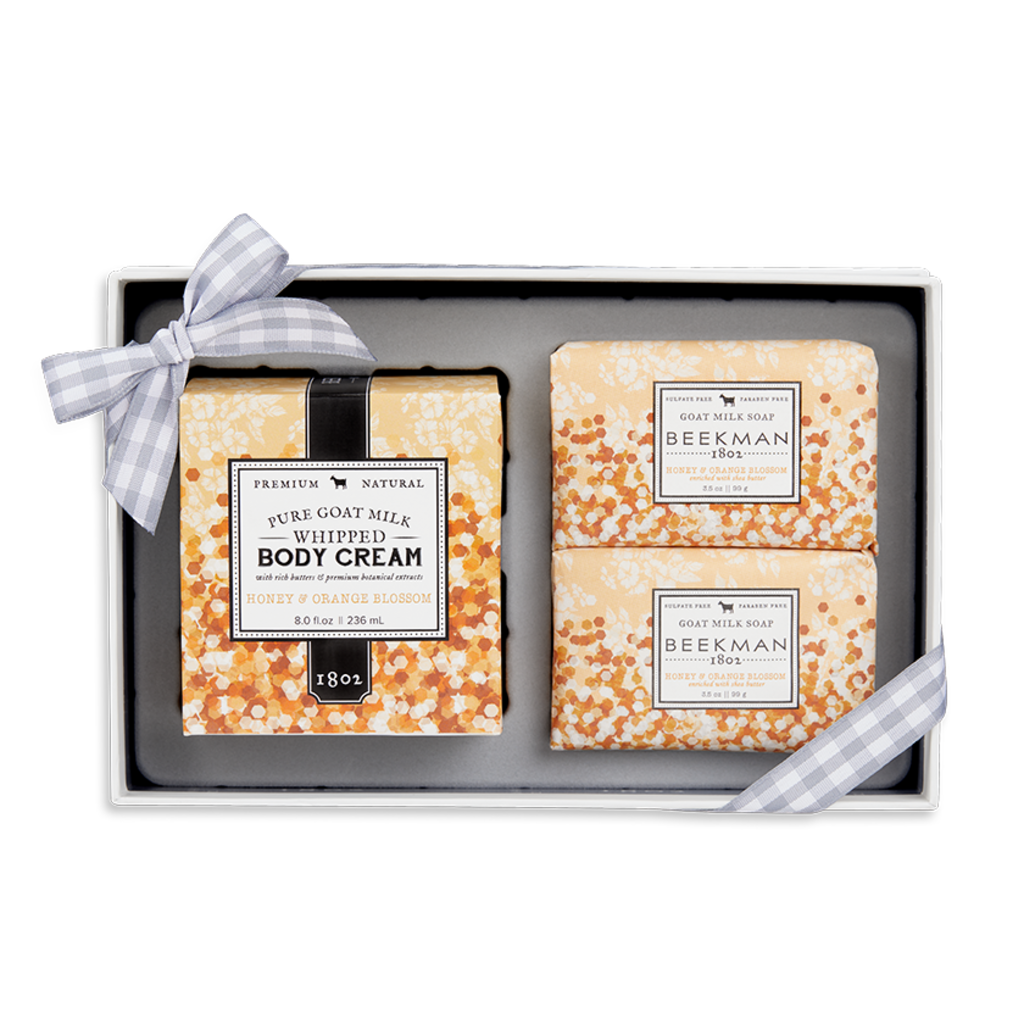 Beekman 1802 Beekman 1802 Honey & Orange Blossom Soap & Body Cream Sampler