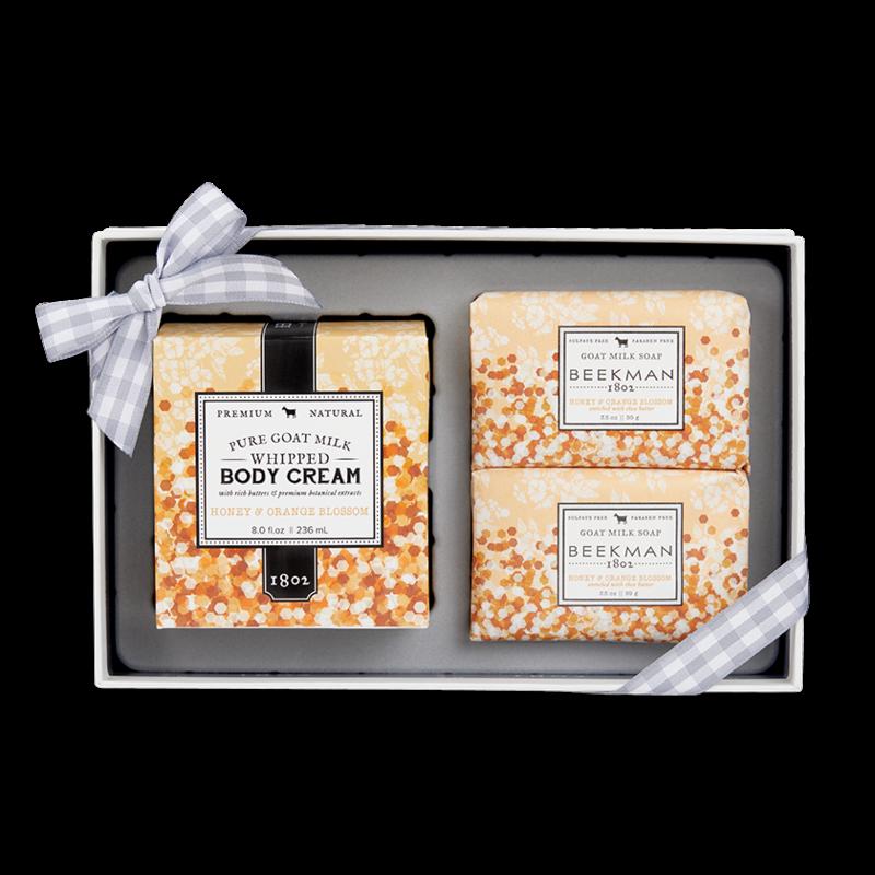 Beekman 1802 Honey & Orange Blossom Soap & Whipped Body Cream Sampler