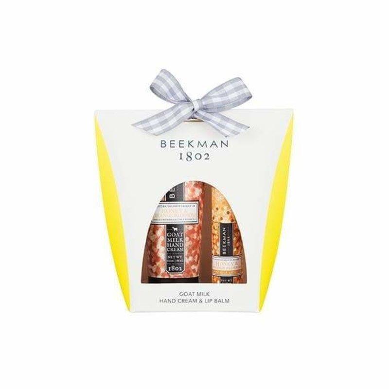 Beekman 1802 Honey & Orange Blossom Hand Cream & Lip Balm Set