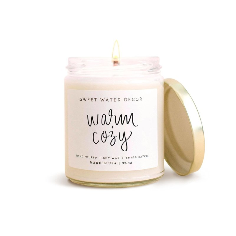 Sweet Water Decor Warm and Cozy Soy Candle