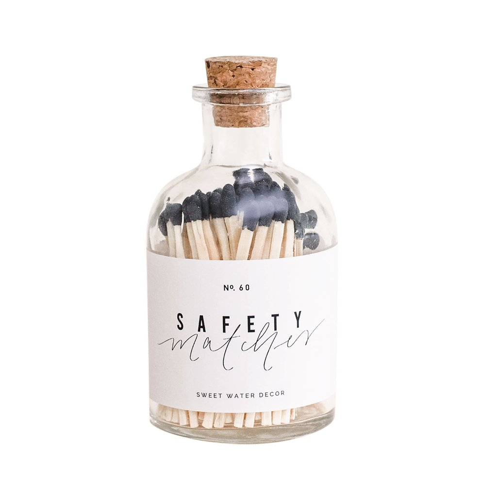 Sweet Water Decor Sweet Water Decor Safety Matches - Black