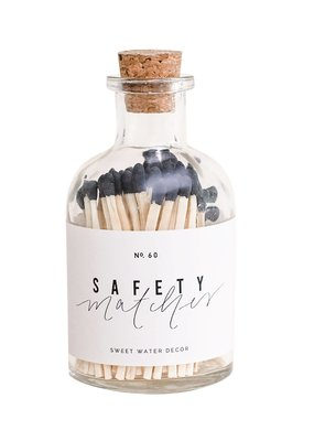 Sweet Water Decor Safety Matches - Black
