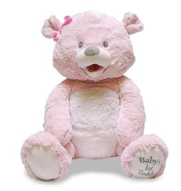 Cuddle Barn Baby's First Singing Teddy Pink