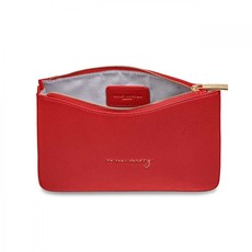 Katie Loxton Stylish Structured Pouch So Very Merry - Red