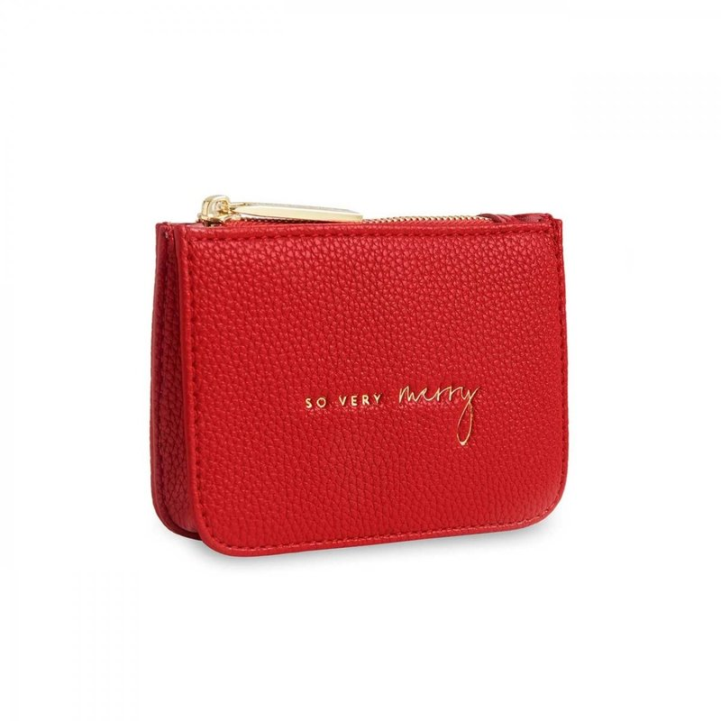 Stylish Structured Coin Wallet So Very Merry - Red