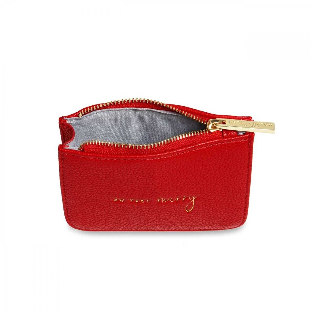 Katie Loxton Stylish Structured Coin Wallet So Very Merry - Red