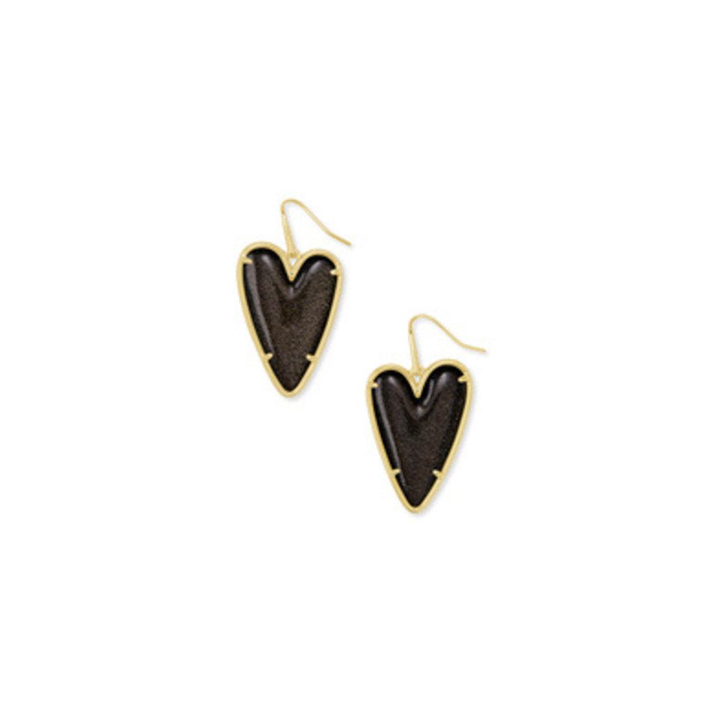 Kendra Scott Kendra Scott  Ansley Drop Earring Gold - Golden Obsidian
