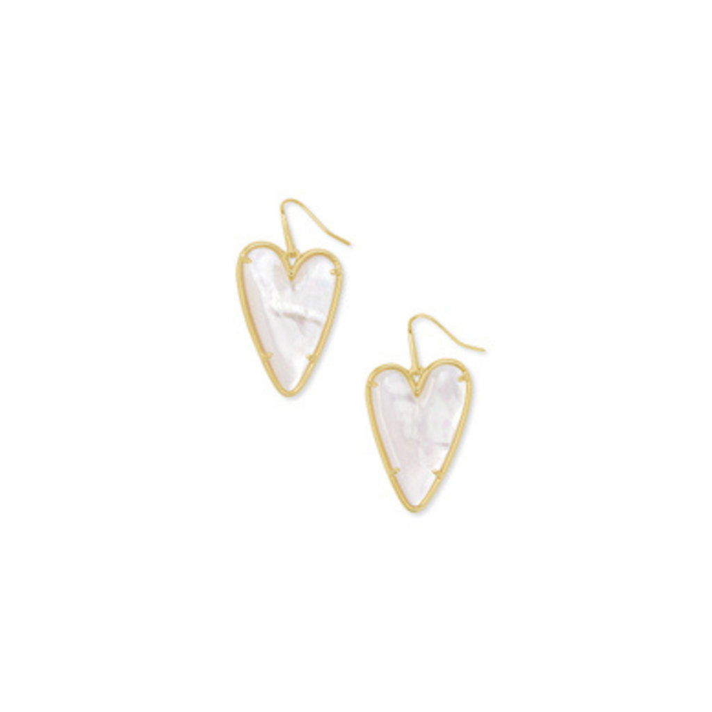 Kendra Scott Kendra Scott Ansley Drop Earring Gold - Ivory MOP
