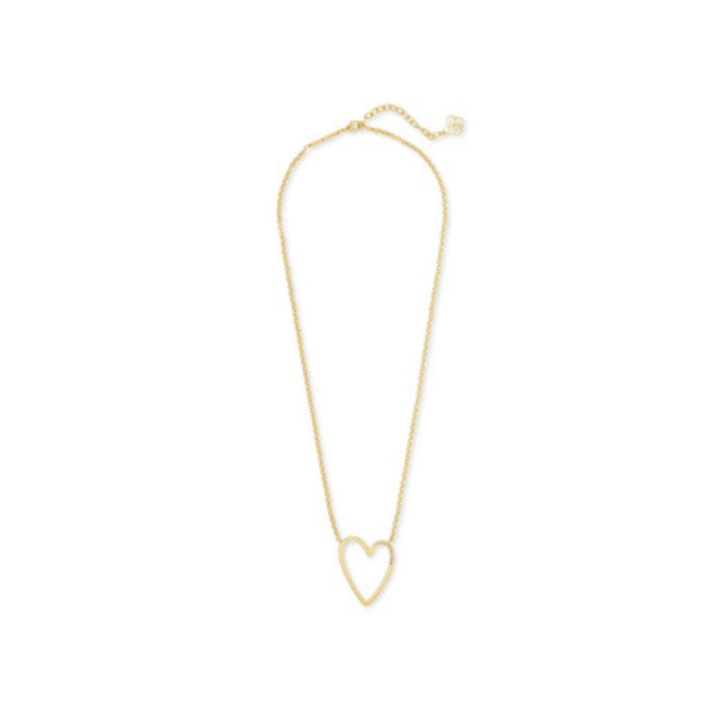Kendra Scott Kendra Scott Ansley Heart Pendant Necklace  in Gold