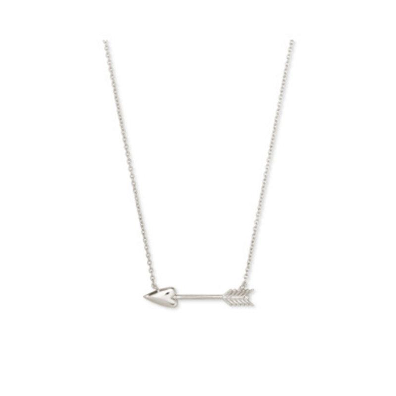 Kendra Scott Zoey Short Pendant Necklace in Silver