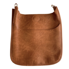 Ahdorned Ahdorned Classic Vegan Leather Messenger Bag - Camel