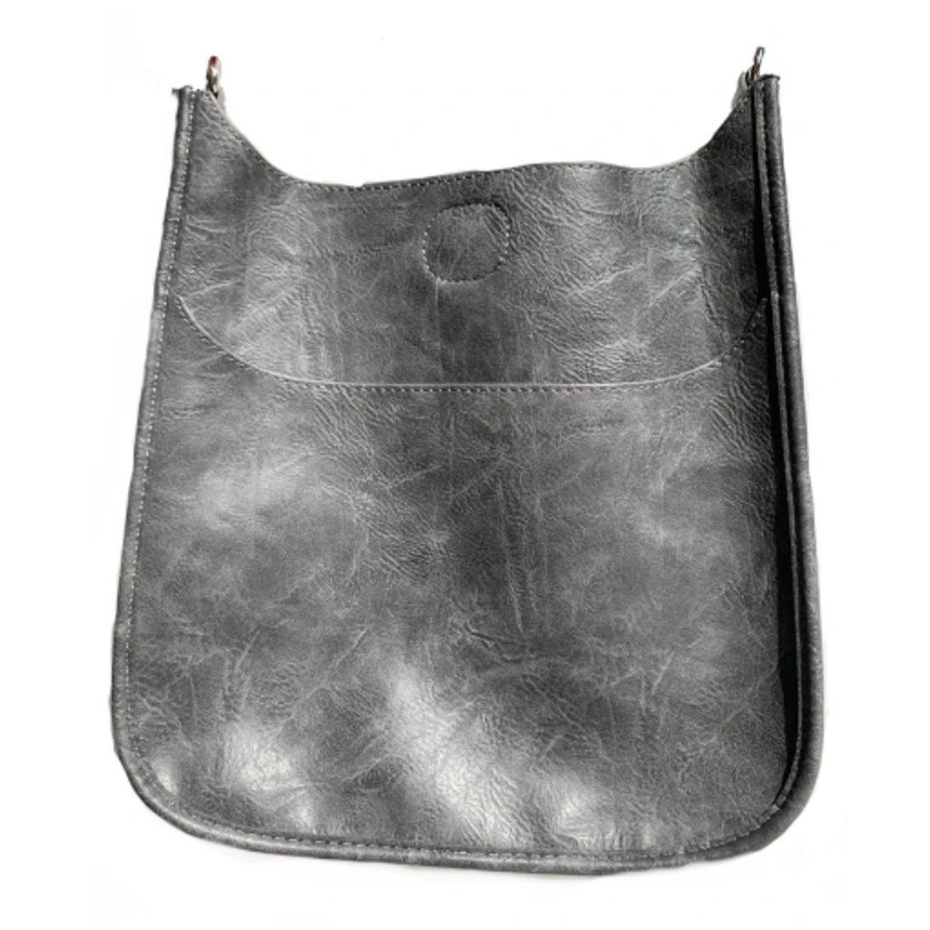 Ahdorned Ahdorned Classic Vegan Leather Messenger Bag - Grey