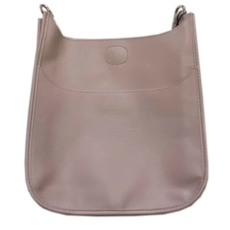 Ahdorned Ahdorned Classic Soft Faux Leather Messenger Bag - Blush