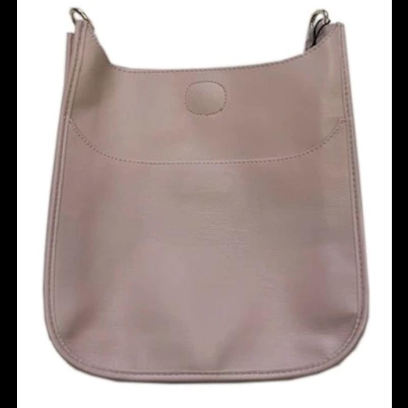 Ahdorned Classic Soft Faux Leather Messenger Bag - Blush