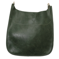 Ahdorned Ahdorned Classic Vegan Leather Messenger Bag - Dark Green