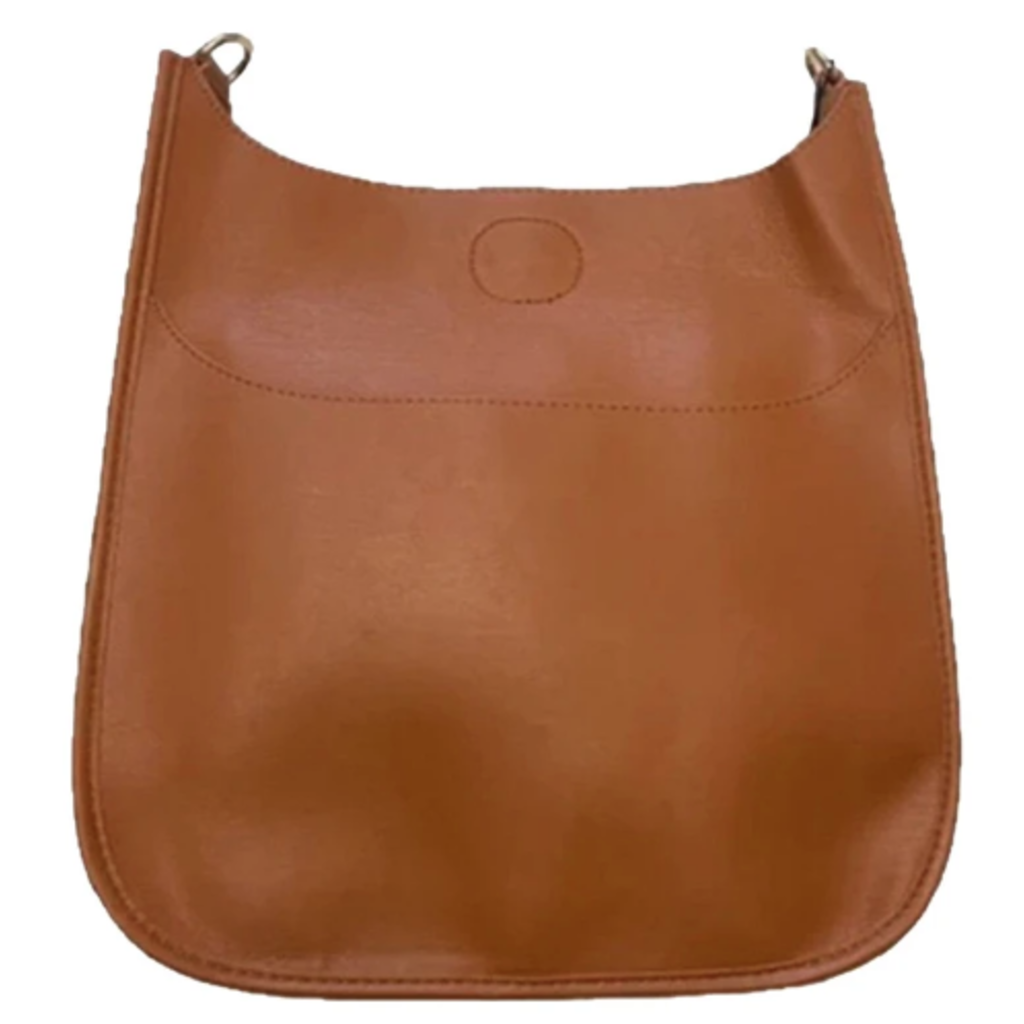 Ahdorned Ahdorned Classic Soft Faux Leather Messenger Bag - Camel