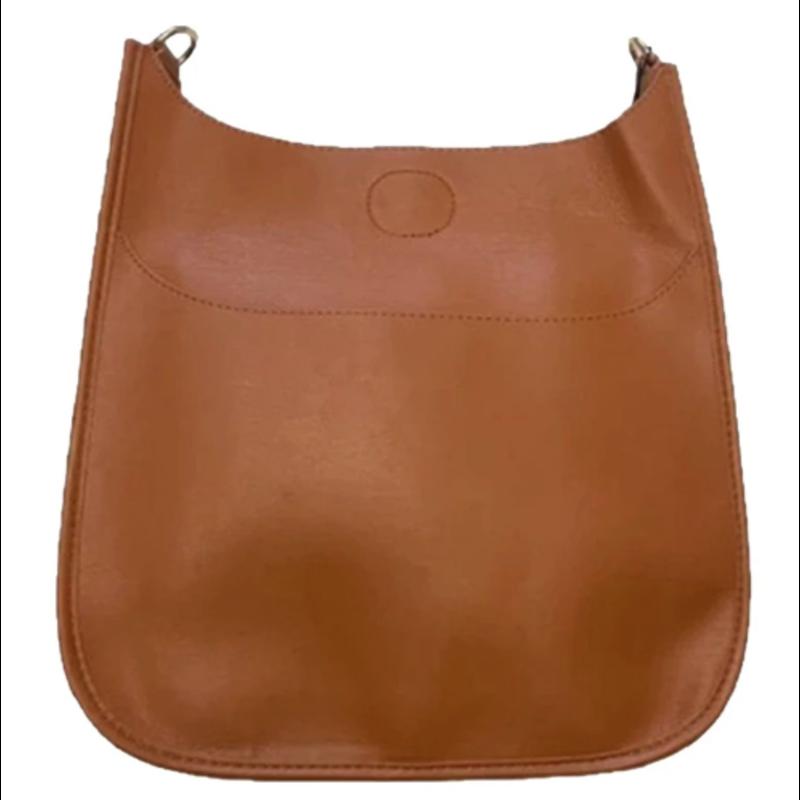 Ahdorned Classic Soft Faux Leather Messenger Bag - Camel