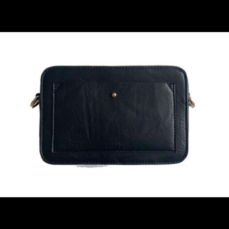 Ahdorned Vegan Leather Camera Bag - Black