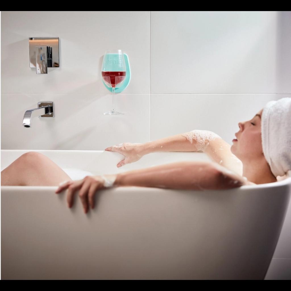 30 Watt Shower & Bath Wine Holder - Marble Grey