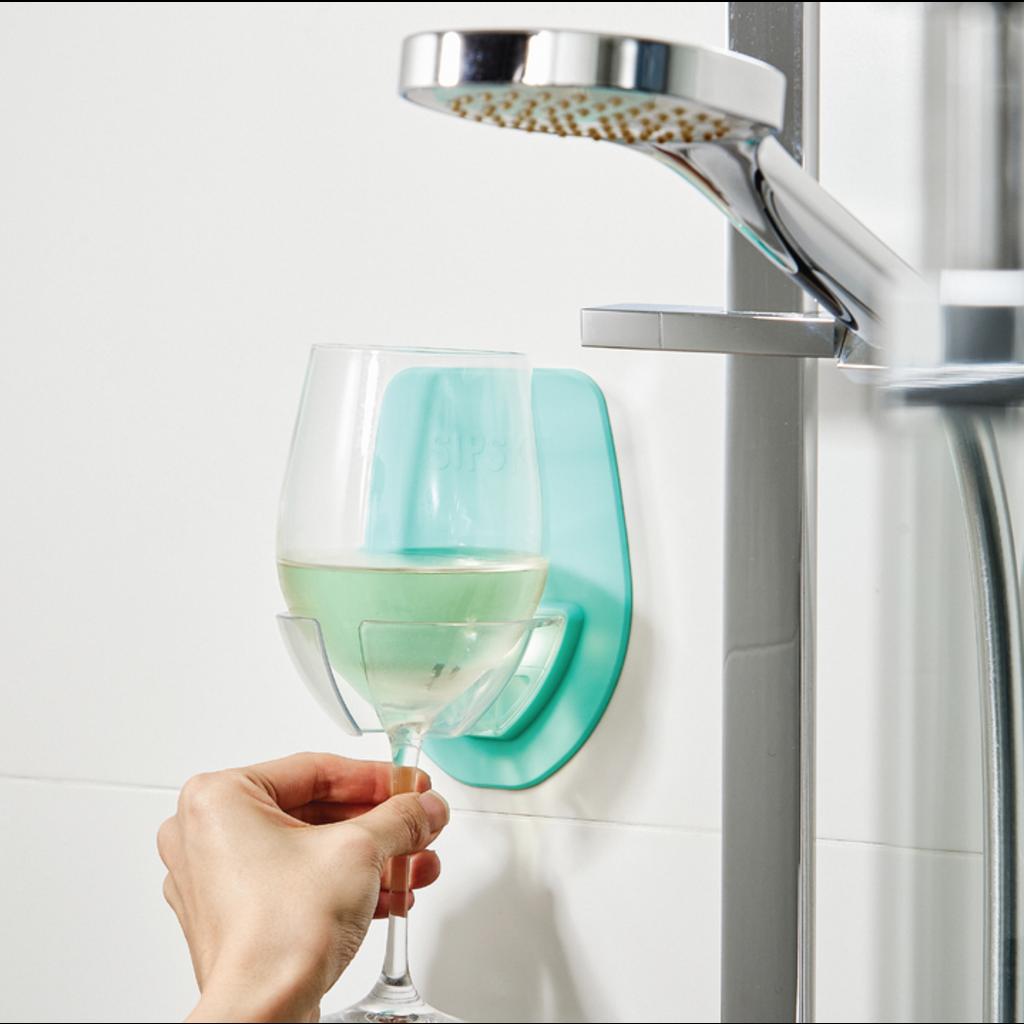 30 Watt Shower & bath Wine Holder - Seafoam Green