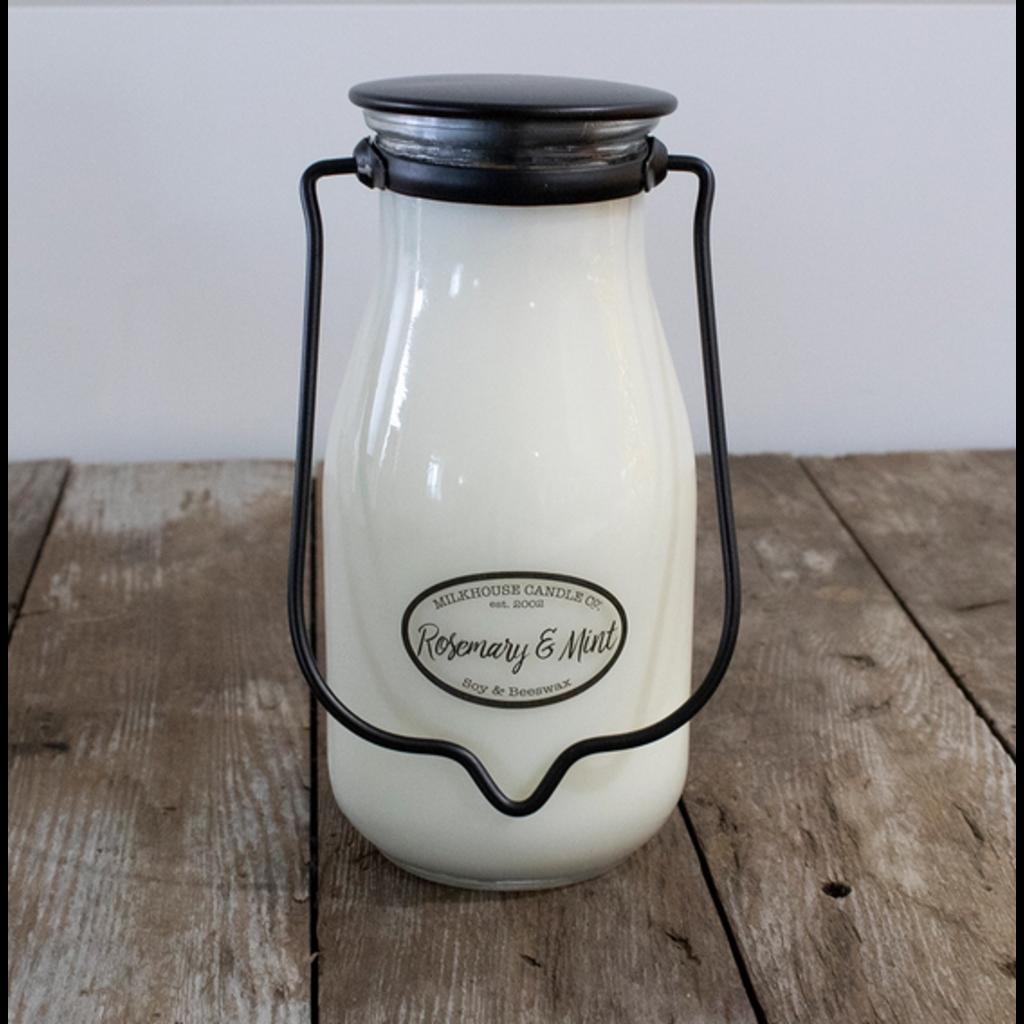 Milkhouse Candle Creamery Milkhouse Candle Creamery Milkbottle Pint: Rosemary & Mint