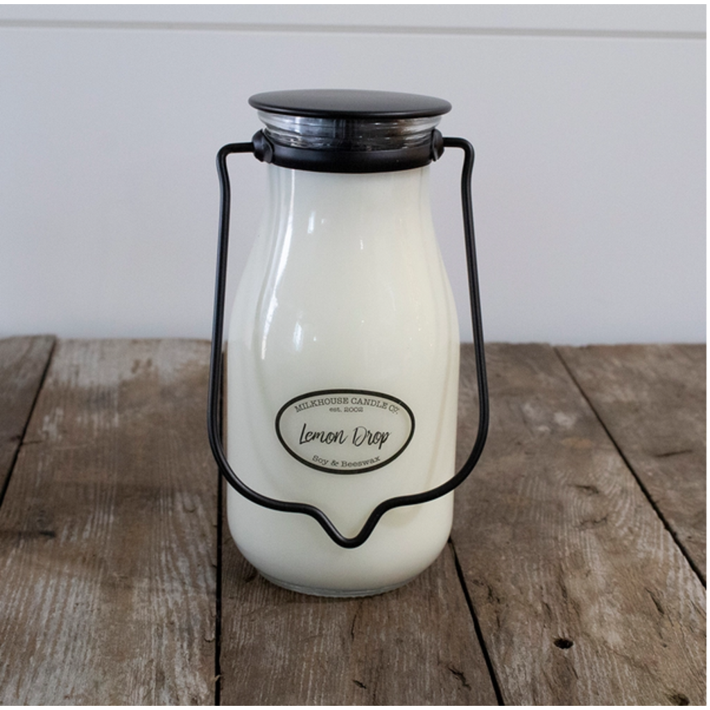 Milkhouse Candle Creamery Milkhouse Candle Creamery Milkbottle Pint: Lemon Drop