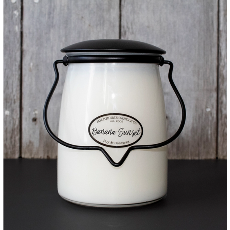 Milkhouse Candle Creamery Banana Sunset 22oz Butter Jar Candle