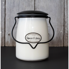 Milkhouse Candle Creamery Milkhouse Candle Creamery Butter Jar 22 oz : Tobacco & Honey