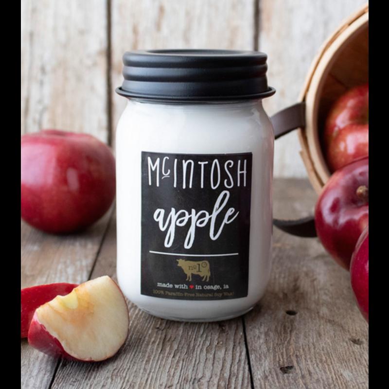 Milkhouse Candle Creamery McIntosh Apple 13 oz Mason Jar Candle