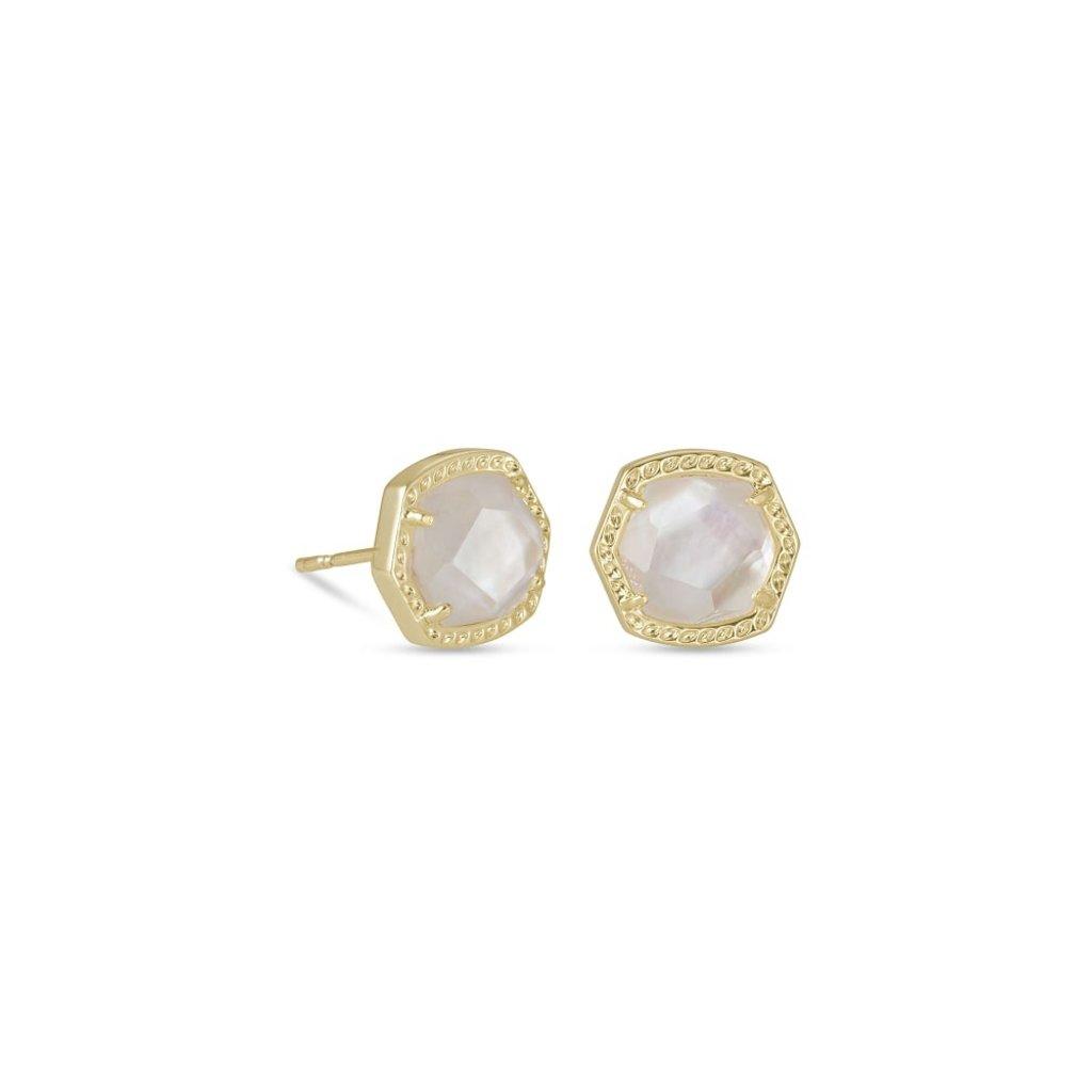 Kendra Scott Kendra Scott Davie Stud Earrings in Gold Ivory Mother-Of-Pearl