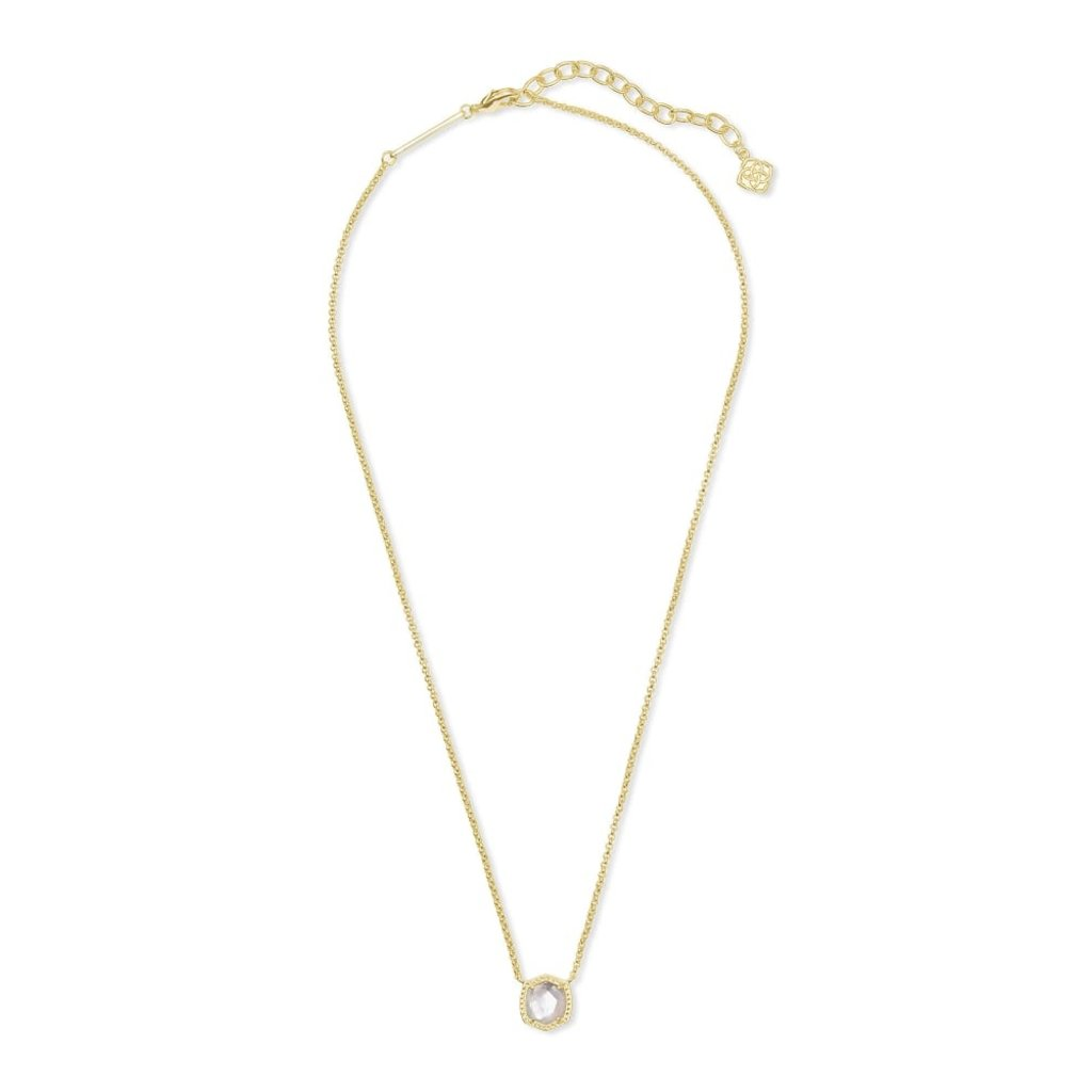 Kendra Scott Kendra Scott Davie Pendant Necklace in Gold Ivory Mother of Pearl