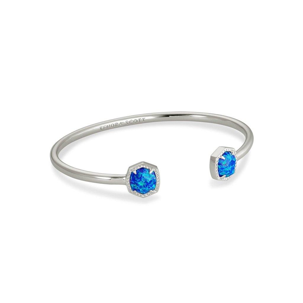 Kendra Scott Kendra Scott Davie Cuff Bracelet in Silver Royal Blue Kyocera Opal