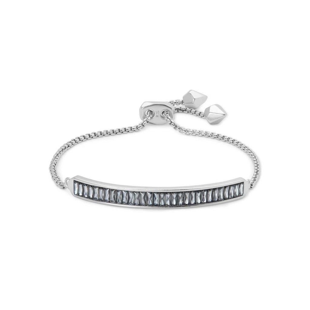 Kendra Scott Kendra Scott Jack Adjustable Chain Bracelet in Silver Gray Crystal