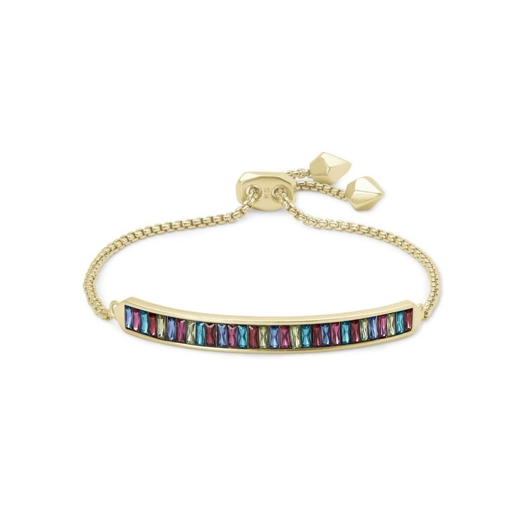 Kendra Scott Kendra Scott Jack Adjustable Chain Bracelet in Gold Multi Crystal