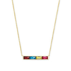 Kendra Scott Kendra Scott Jack Pendant Necklace in Gold Multi Crystal