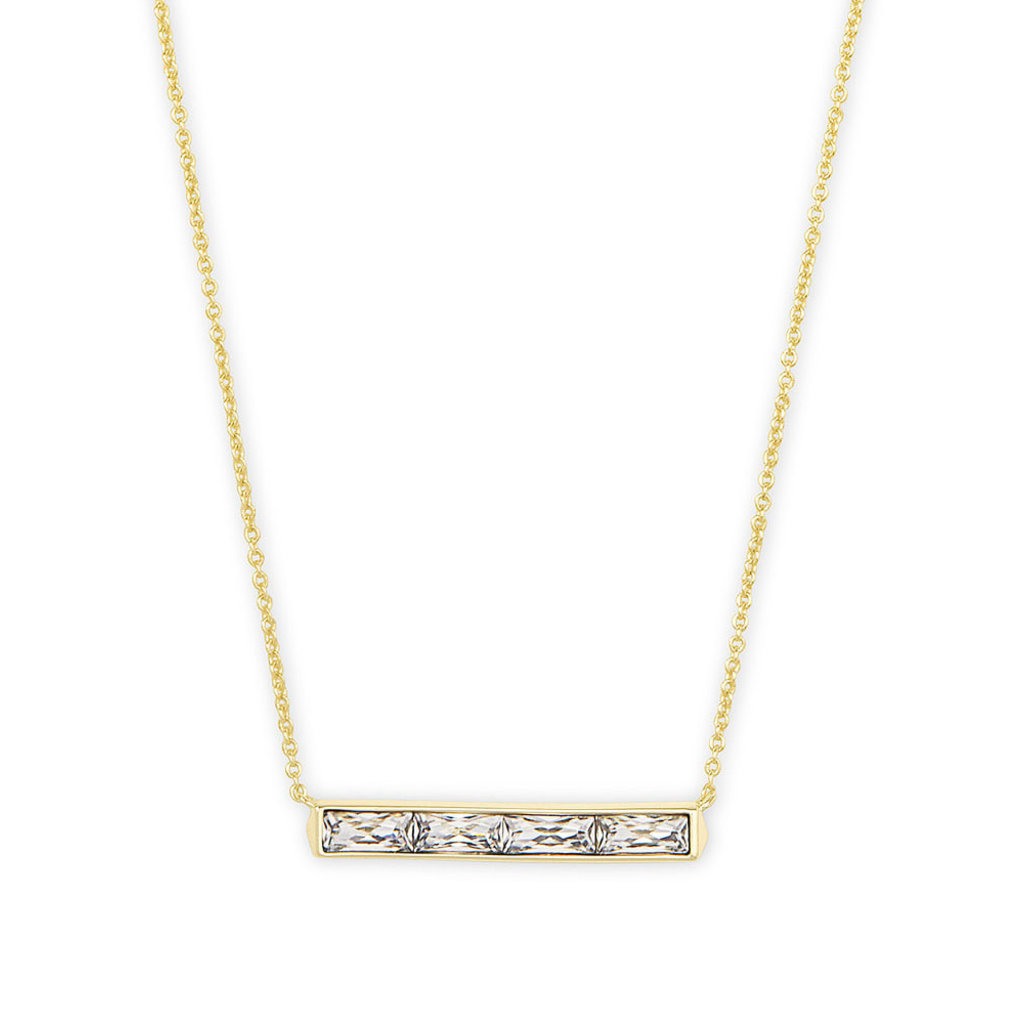 Kendra Scott Kendra Scott Jack Pendant Necklace in Gold White Crystal