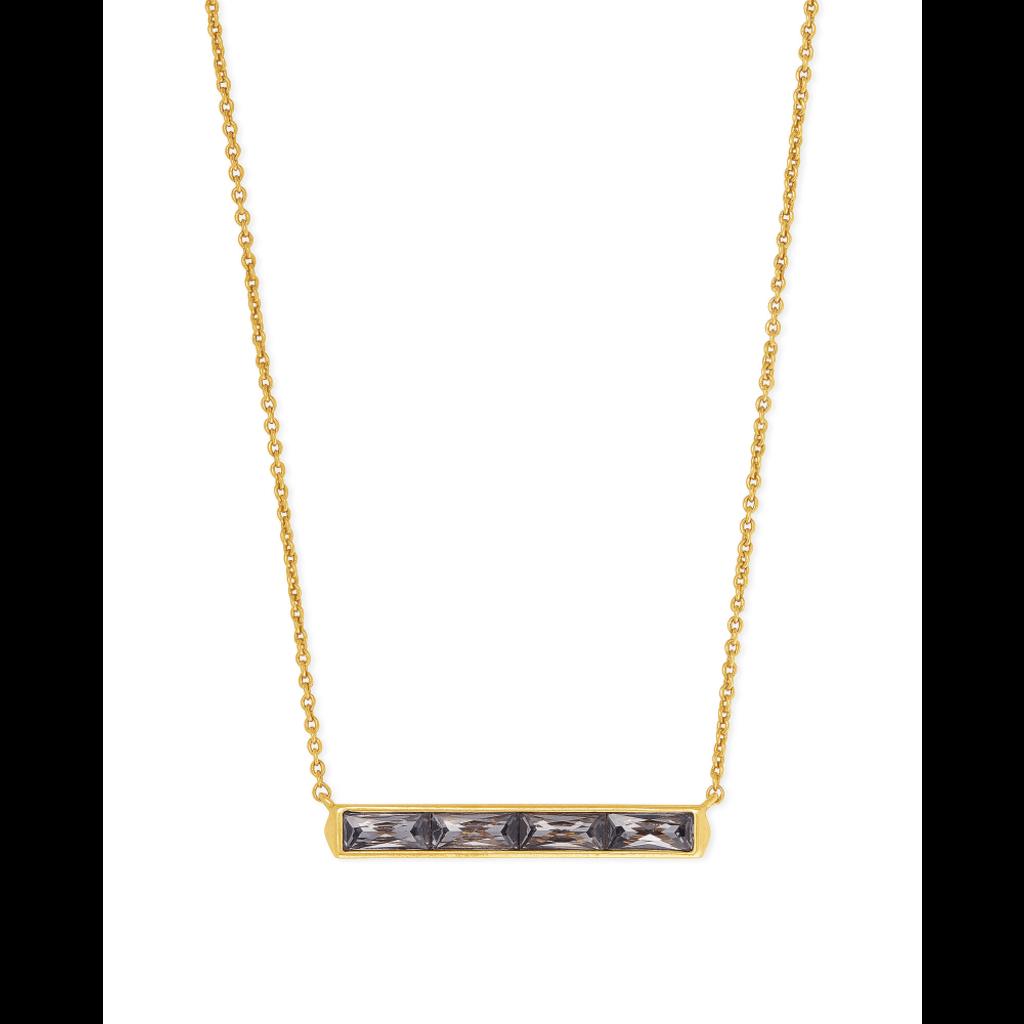 Kendra Scott Kendra Scott Jack Pendant Necklace in Gold Gray Crystal