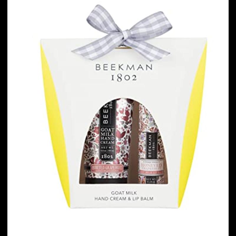 Beekman 1802 Hand Cream & Lip Balm Set -  Honeyed Grapefruit