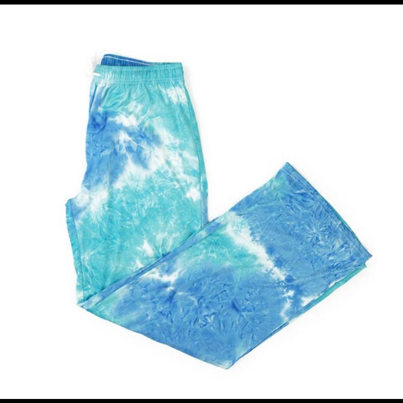 Hello Mello Dyes the Limit Lounge Pant - Aqua - S/M
