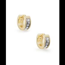 Kendra Scott Kendra Scott Jack Huggie Earrings in Gold White  Crystal