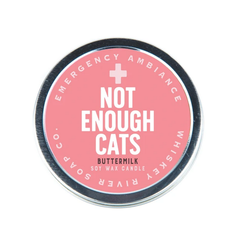 Whiskey River Soap Co. Not Enough Cats - Tin Candle